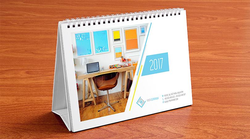 impressão de calendario de mesa feito pela gráfica everest