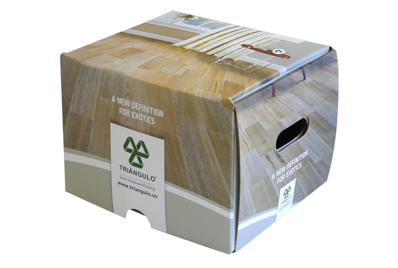 Caixa de amostras – Triangulo